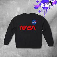 Nasa Sweatshirt Printed Long Sleeve Gift Jumper Nasa Pullover Space Sweatshirt