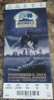NOTRE DAME VS NAVY FOOTBALL TICKET GAME PLAYED ON 11/5/2016 JACKSONVILLE FL.