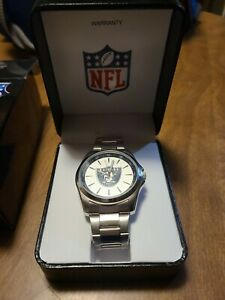 NFL Oakland Raiders by Game Time, Men's Stainless Steel Wristwatch in Box 2011