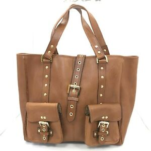 Mulberry Handbag Brown Leather Tote Large Everyday Smart Bag 431260