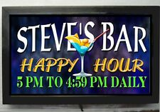 PERSONALIZED  LIGHTED HAPPY HOUR BAR SIGN /CUSTOM BAR SIGN BRIGHT LED LIGHT