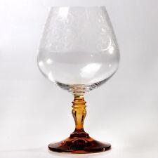 Bohemia Brandy Glasses Set of 6 Original Authentic Czech Crystal Snifter Barware