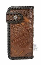 Harley Davidson Mens Freedom Eagle Hand Tooled Trucker Leather Wallet 2017 NWT