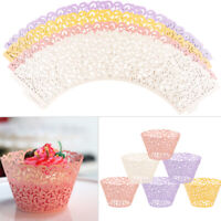 50/100pcs Cupcake Wrappers Bake Cup Paper Liner Vine Muffin Cases Wedding Party