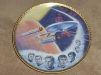 "Star Trek TOS Hamilton Collection 10.125"" Plate USS Enterprise 1741P 1983 COA"