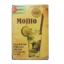 Vintage Retro Metal Tin Sign Poster Plaque Bar Pub Club Wall Home Decor 20x30cm Mojito