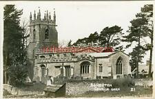 REAL PHOTOGRAPHIC POSTCARD OF SOMERTON CHURCH, NEAR CHIPPING NORTON, OXFORDSHIRE