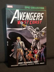 Avengers West Coast Epic Collection Lost in Space-Time Out of print! Marvel