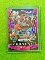 JAMES WISEMAN PINK ICE PRIZM ROOKIE CARD CRUSADE WARRIORS RC - 2020 Panini Prizm