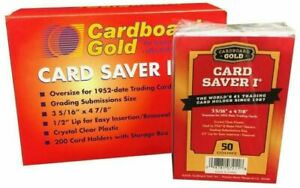 Card Saver I 100 Count 100 Ct Cardboard Gold PSA Graded Semi Rigid Holders