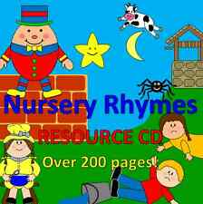 Nursery Rhyme resources on CD for Early Years- EYFS, childminder, planning