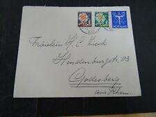 Nederland 256, 261, 263 op brief van Bussum naar Godesberg Dld 1934