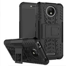 Hybrid Case 2teilig Outdoor Schwarz Tasche Hülle für Motorola Moto C Plus Cover