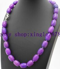 "Natural Pretty 10x14mm Cylinder Purple Sugilite Gemstone Necklace 20""AAA 999*"
