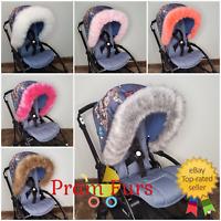 Pram Fur Hood Trim 2019 Must have Winter Pram Accessories Baby Newborn Stroller