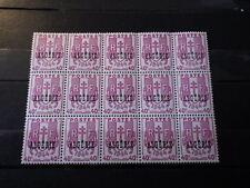 bloc 15 Timbres ALGERIE ALGERIA 1945 MNH** Yt: 225 (Mi: 223) Surcharge Overprint
