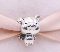 New Authentic Pandora Sterling Silver PIPPO the Flying Pig Bead Charm 798253#02