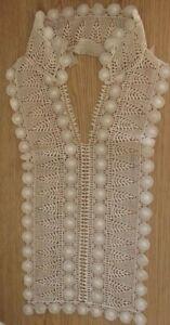 """Stunning Edwardian/Victorian Beige Vintage Collar Inset 8"""" x 18"""""""