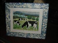 Debora Baxter Jackson Handpainted Original Art Cows In Field Country Decor Art