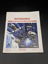 Asteroids Instruction Manual Atari 2600 EX condition-