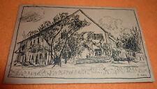 Haus in Landschaft Bayern Expressionismus Gemälde Franz Gall München 1903