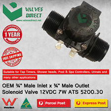 "12V DC Solenoid Valve 3/4"" inch Normally Closed - Oz made and Watermark Approved"