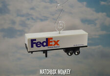 Fed Ex Semi Trailer Christmas Ornament 1/64 Federal Express Delivery Truck