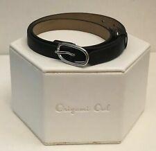 "Authentic Origami Owl Black 6 - 7 1/4"" Leather Wrap Bracelet - NEW"