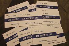 "1- Original & Rare Vietnam War CIA ""Air America"" Bag Tag/Boarding Booklet, 68 d."