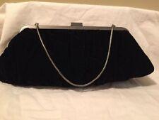 MARY KAY Black Velvet Clutch Shoulder Evening Handbag w Chain Cosmetic Bag