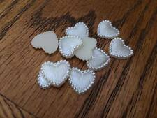 10 x 15MM HEART PEARL AFFECT PLASTIC FLAT BACK RESIN CENTRES HEADBANDS BOW