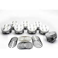 Speed Pro/TRW Ford 302/5.0 HO Forged Coated Flat Top Pistons+MOLY Ring Kit STD