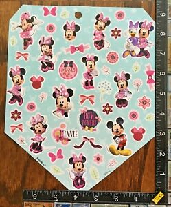 MINNIE MOUSE, MICKEY MOUSE, DAISY, 1 BIG SHEET BEAUTIFUL STICKERS #CLUB14