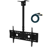 TV Ceiling Mount for 32 to 75 inch LED LCD TV with Swivel and Articulating Tilt