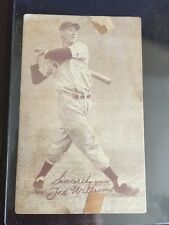 1939-1946 Salutations Exhibits Cabinet Card - Ted Williams Red Sox HOF #9 Not Sh
