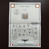 Germany Nazi 1943 Stamp MNH Mail Coach WWII Third Reich German Deutschland