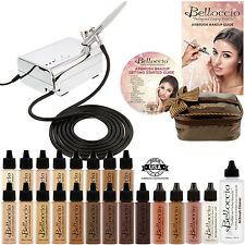 Belloccio Professional AIRBRUSH COSMETIC MAKEUP SYSTEM 17 Foundation Shades Kit