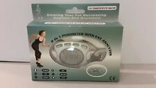 2-in-1 pedometer with fat analyzer function. Never used in original package.