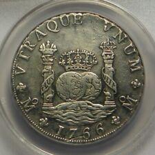 1766 MF 8 Reales:   ANACS AU50:   Mexico City Mint