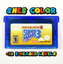 Super Mario Advance 4 Bros 3 with 38 e-Reader Levels Gameboy Advance Custom GBA