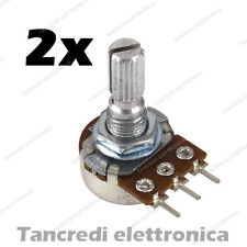 2 pz POTENZIOMETRO 10K LINEARE MONOGIRO 10KOHM B10K trimmer potentiometer 15mm