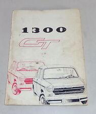 Instrucciones Servicio/Owner ´S Manual Austin/Morris 1300 Gt Mk.II Stand 1970