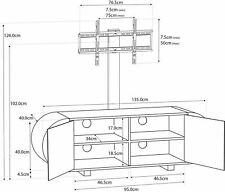 "CENTURION SUPPORTS Mounting Arm for ANDORA TV Cabinet 26""-60"" TV"