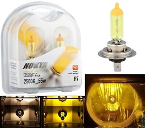 Nokya 2500K Yellow H7 Nok7616 55W Two Bulbs Head Light Low Beam Replacement Lamp