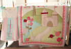 9PCS Pink Embroidery Baby Bedding Set Nursery Quilt Bumper Infant Crib Cot Skirt