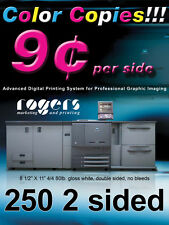 250 Double Sided Color Copies 80lb Gloss Text