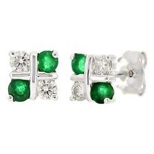 0.32ctw Diamond 14k White Gold Earrings