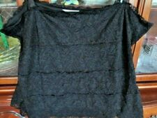 Coldwater Creek Exclusive Black Lace Lined With Straps Very Cute Cami Size   3X