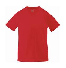 Magliette e maglie rosso a manica corta in poliestere per bambini dai 2 ai 16 anni