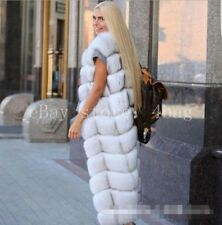 Waistcoat Luxury Real Fox Fur Women Sleeveless Full Length Vest Coat Winter Warm
